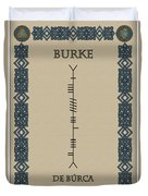 Burke Written In Ogham Duvet Cover
