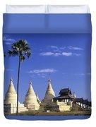 Burma Myanmar, White Minochanthar Duvet Cover