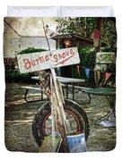 Burma Shave Sign Duvet Cover