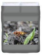 Burn Pile Bee Duvet Cover