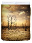 Burned Out Forest Duvet Cover
