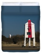 Burnham-on-sea Lighthouses Duvet Cover