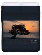 Burning Beach Sunset Duvet Cover