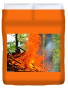 Burning Brush Duvet Cover
