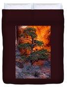 Burning Bush Duvet Cover
