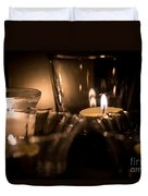Burning Candles Duvet Cover