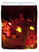 Burning City Duvet Cover