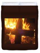 Burning Cross Duvet Cover