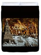 Burning Of The Royal Library Duvet Cover