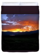 Burning Of Uncertainty Duvet Cover