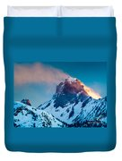 Burning Peak Duvet Cover