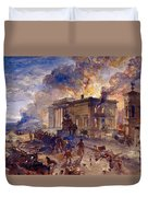 Burning Temple Of The Winds, 1856 Duvet Cover