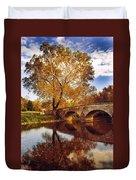 Burnside Bridge At Autumn Sunset Duvet Cover