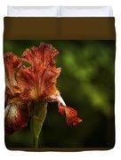 Burnt Orange Iris Duvet Cover