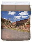 Burr Trail Road Through Long Canyon Duvet Cover