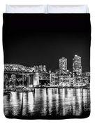 Burrard Bridge At Night Duvet Cover