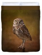 Burrowing Owl Portrait Duvet Cover by Kim Hojnacki