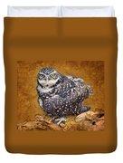 Burrowing Owl Portrait Duvet Cover
