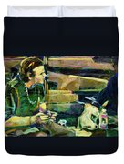 Bus Stop Dining Duvet Cover