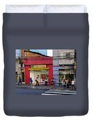 Bus Stop On Rua Teodoro Sampaio Duvet Cover