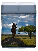 Bushbuck Guard Of The Mound   Duvet Cover