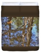 Reflection In Bushkill Falls  Duvet Cover