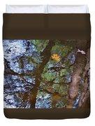 Second  Reflection In Bushkill Falls  Duvet Cover