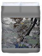 Lilies In The Pond Duvet Cover