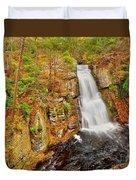 Bushkill Falls Pa Duvet Cover