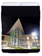 Business Building At Night Duvet Cover