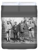 Business Leaders Play Golf Duvet Cover