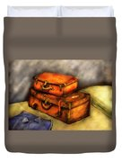 Business Man - Packed Suitcases Duvet Cover