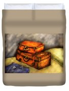 Business Man - Packed Suitcases Duvet Cover by Mike Savad