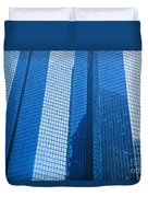 Business Skyscrapers Modern Architecture In Blue Tint Duvet Cover by Michal Bednarek