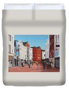 Busking On Grafton Street Duvet Cover