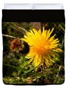 Bussy Bee And Dandelion Duvet Cover