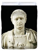 Bust Of Emperor Domitian Duvet Cover