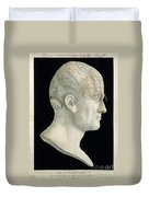 Bust Of Johan Spurzsheim Duvet Cover