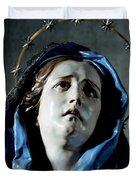 Bust Of Painful Virgin Duvet Cover