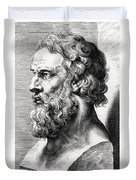 Bust Of Plato  Duvet Cover