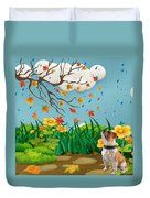 Buster And The Tree Duvet Cover