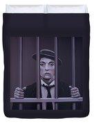 Buster Keaton Painting Duvet Cover