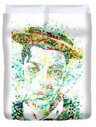 Buster Keaton - Watercolor Portrait Duvet Cover
