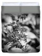 Busy Bee - Bw Duvet Cover