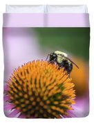 Busy Bee On Cone Flower Duvet Cover