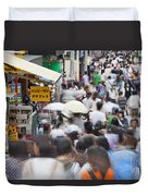 Busy Takeshita Dori Duvet Cover