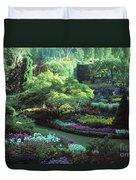 Butchard Gardens Vancouver Island Duvet Cover