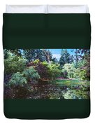 Butchart Gardens Is A Group Of Floral Display Brentwood Bay Duvet Cover