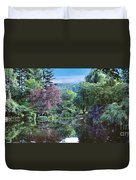 Butchart Gardens Is A Group Of Floral Display Gardens British Columbia Canada 3 Duvet Cover