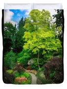 Butchart Gardens Pathway Duvet Cover